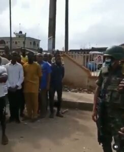 Go Back Home, We Don't Want To Kill You – Soldiers Appeals To #EndSARS Protesters (Video)