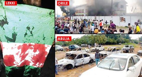 UPDATE! 49 Killed As EndSARS Protests Turn Bloody Across Nigeria
